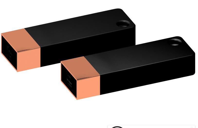 Powerbank Belt 4400 koper-zwart