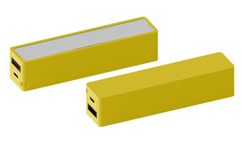 Powerbank Brick geel
