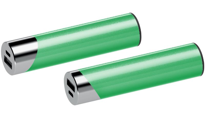 Powerbank Circle chroom-groen