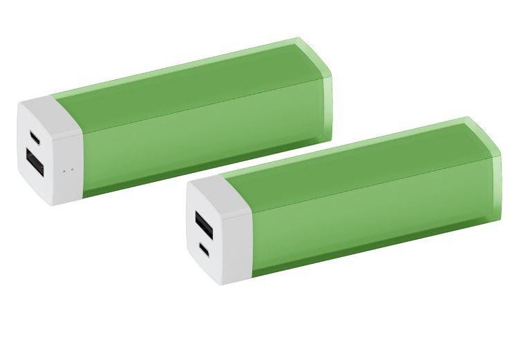 Powerbank Glass groen
