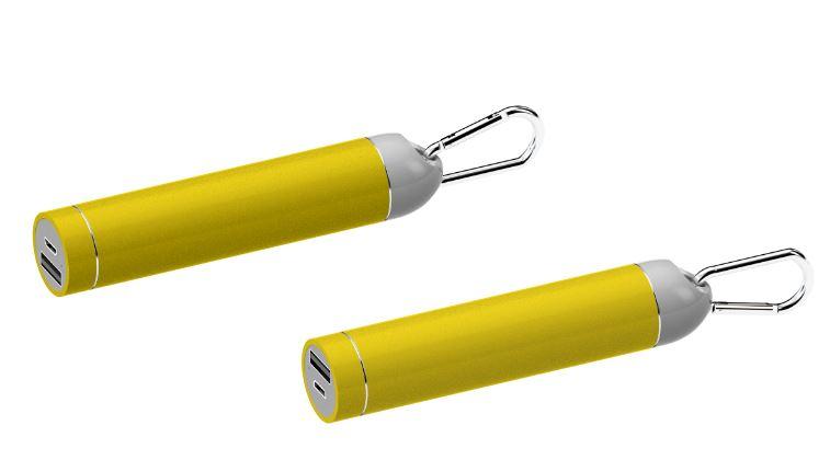Powerbank Roller geel