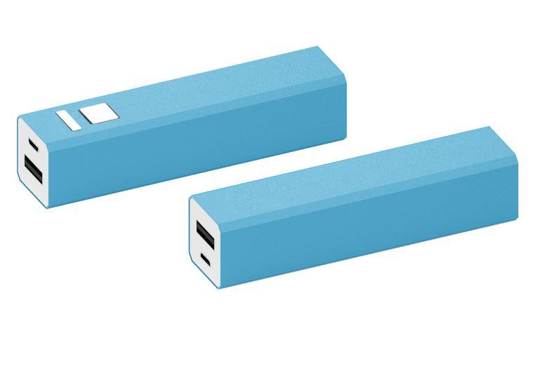 Powerbank Shine aluminium blauw