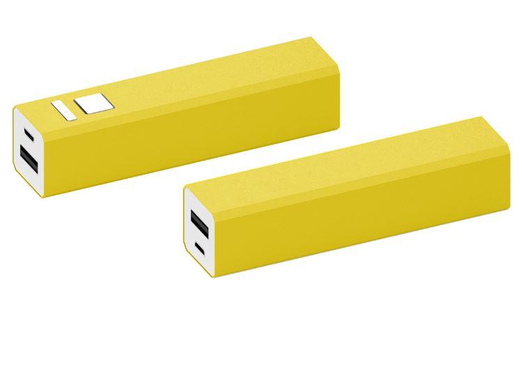 Powerbank Shine aluminium geel
