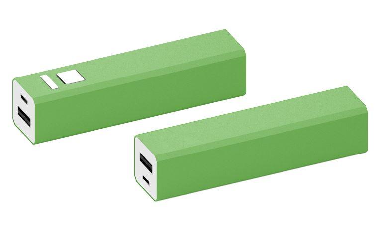 Powerbank Shine aluminium groen