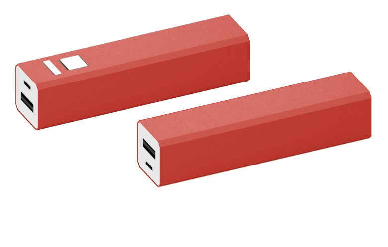 Powerbank Shine aluminium rood
