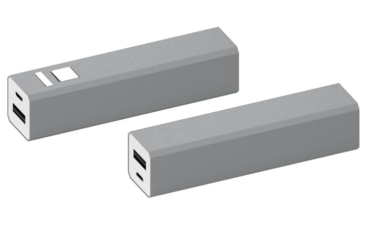 Powerbank Shine aluminium zilver