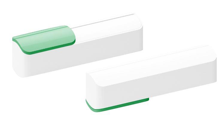 Powerbank Slide wit-groen