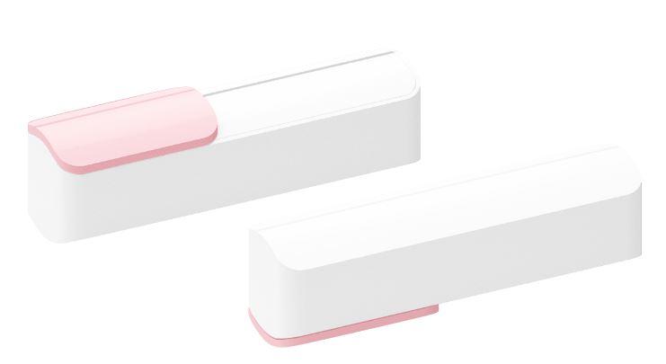 Powerbank Slide wit-roze