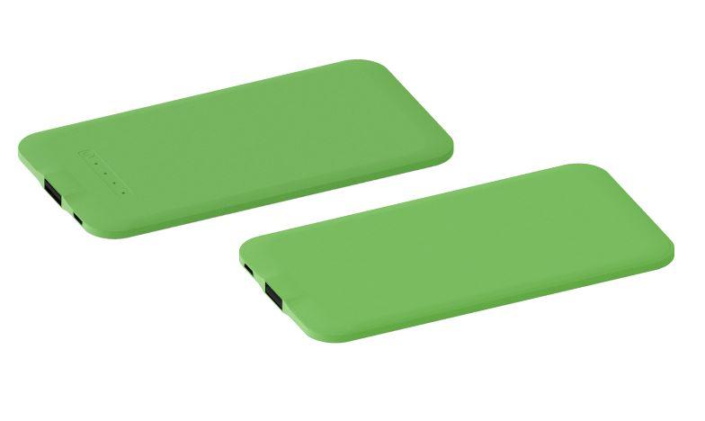 Powerbank Thin groen