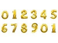Folieballonnen cijfer 3 (goud)