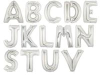 Folieballonnen letter 'U' (zilver)