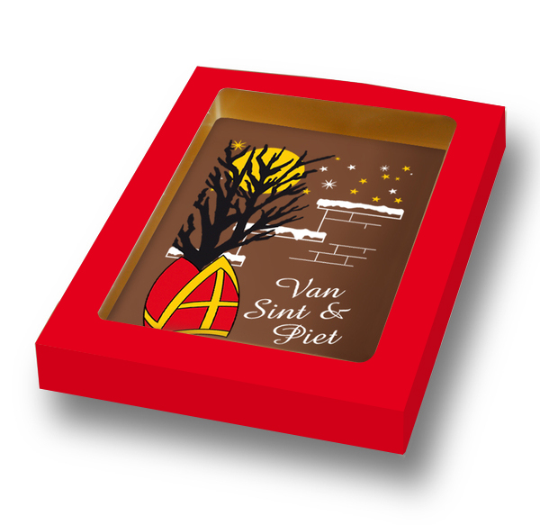 Chocoladekaart Fair trade met logo