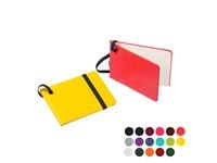 Bagagelabel met elastieksluiting in een notitieboek ontwerp