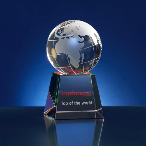Award 6-hoekig; thema wereld