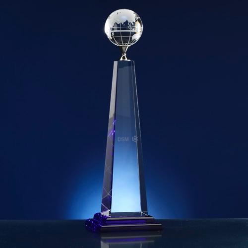 Award obelisk; thema wereld
