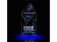 Laser in glas 15x6x6 cm Trophy