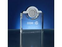 Klokje van glas/kristal 9x3x10cm