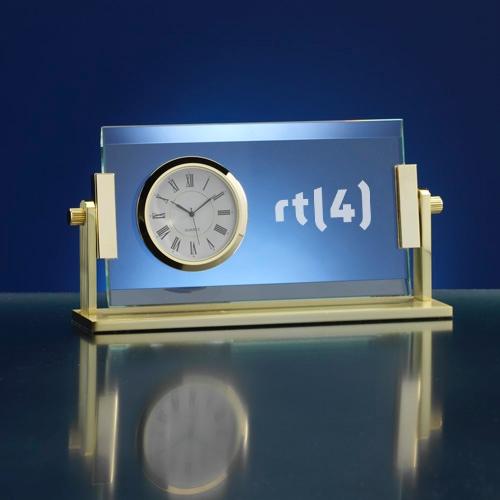 Klok van glas 178x42x90mm