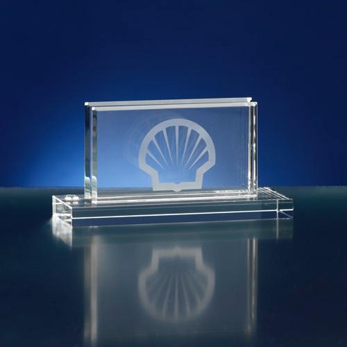 Visitekaarthouder van glas/kristal