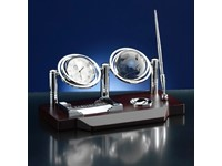 Bureau set met wereldbol van glas