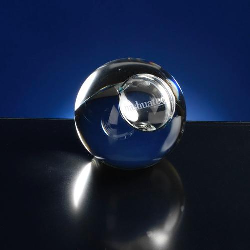 Presse papier van glas/kristal