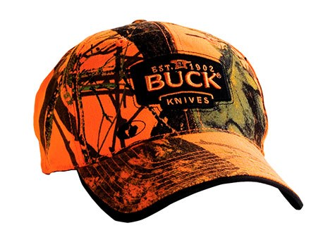 BUCK Cap, Mossy Oak Blaze Orange camo