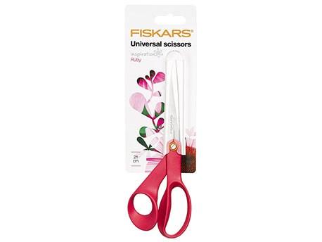 Fiskars Universeelschaar Inspiration Ruby 21cm