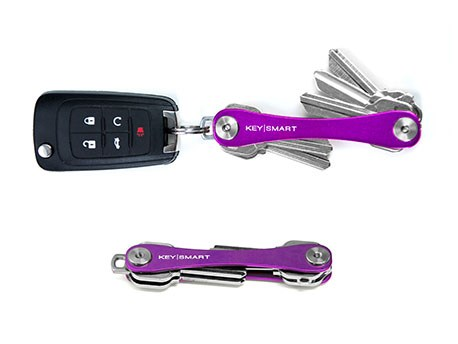 KeySmart Compact Keyholder Purple Poly