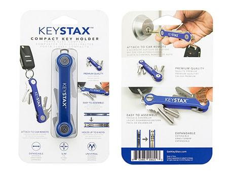 KeySmart KeyStax Compact Keyholder Blue Clam