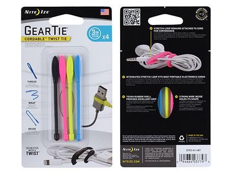 Nite Ize Gear Tie Cordable Twist Tie 3
