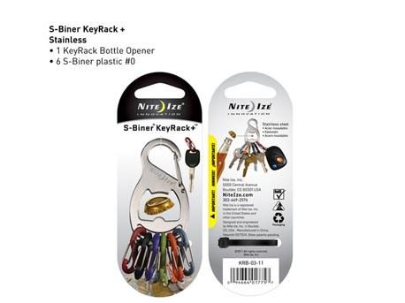 Nite Ize Key Rack SS 6 colors bottleopener