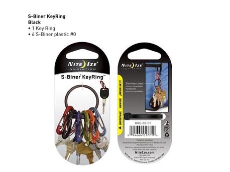 Nite Ize Key Ring Black 6 colors