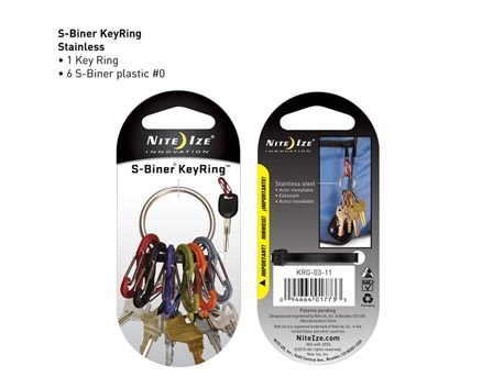 Nite Ize Key Ring Stainless 6 colors