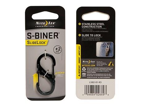 Nite Ize S-Biner #2 Slidelock Stainless Black