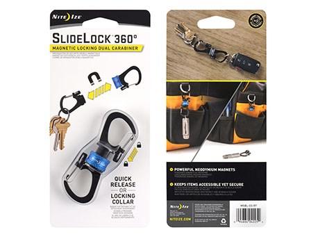 Nite Ize Carabiner Slidelock 360 Magnetic Blue