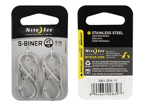 Nite Ize S-Biner #1 2-Pack Stainless