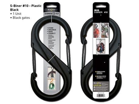 Nite Ize S-Biner Plastic #10 Black Finish