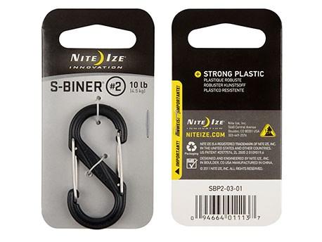 Nite Ize S-Biner Plastic #2 Black/Black gates
