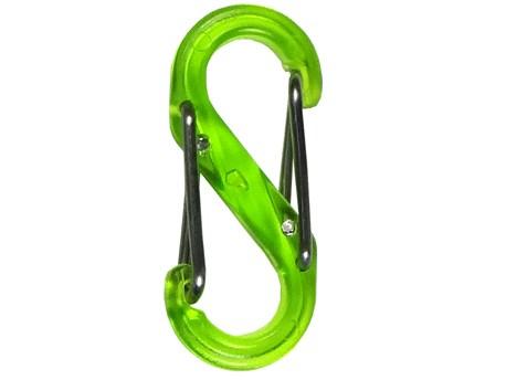 Nite Ize S-Biner Plastic #4 Lime Translucent