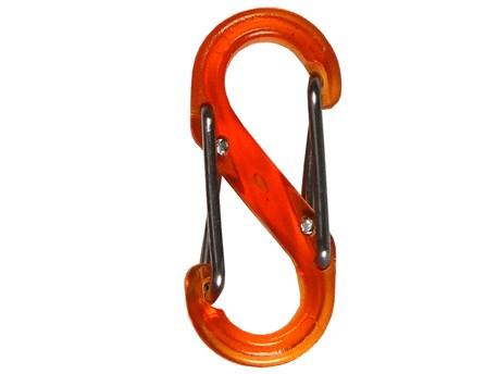 Nite Ize S-Biner Plastic #4 Orange Translucent