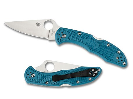 Spyderco Delica4 Flat Ground PE Blue
