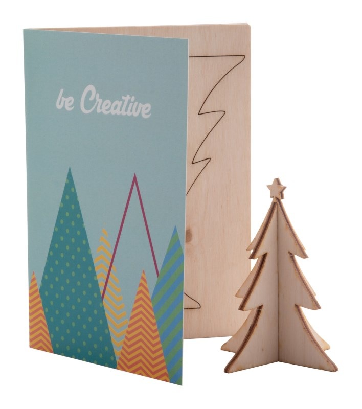 CreaX - Kerstkaart, kerstboom