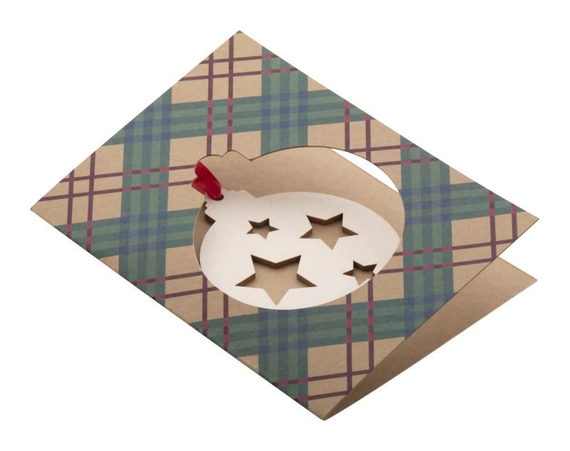 TreeCard Eco - Kerstkaart, kerstbal