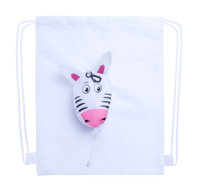 Kissa - trektouw tas, zebra