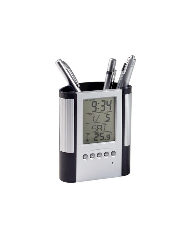 Loris - pennenhouder met klok, thermometer