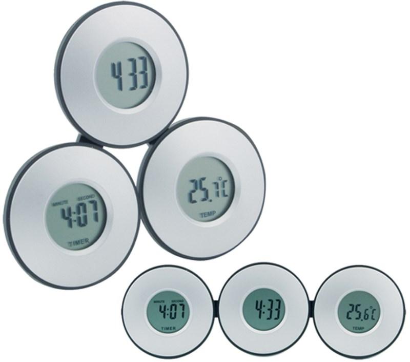 Tri - klok en thermometer
