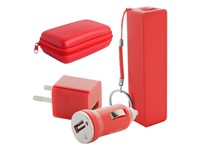 USB lader en powerbank set