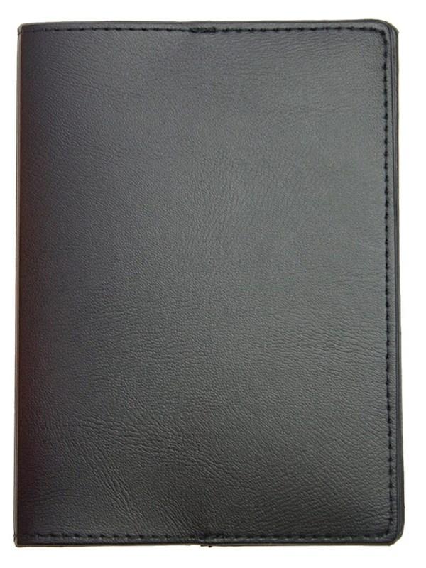 Paspoortmap de Luxe Skai 13.2*9.7 cm Zwart acc. Zwart