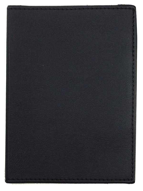 Paspoortmap Skai 13.2*9.7 cm Zwart acc. Zwart