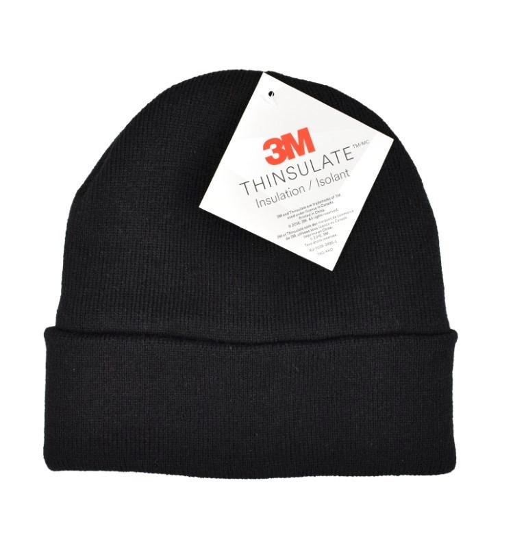 Acryl Knitted Hat met Thinsulate Zwart acc. Zwart